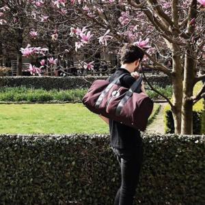 Sac de sport Entre 2 Rétros en matériaux upcyclés - bagages éthiques