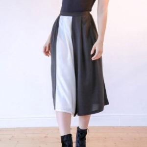 La jupe culotte en tissu upcyclé