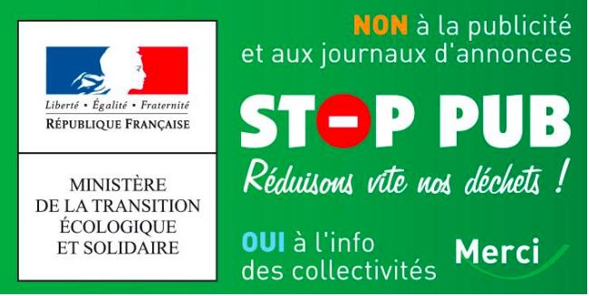 stop pub pour la boite aux lettres