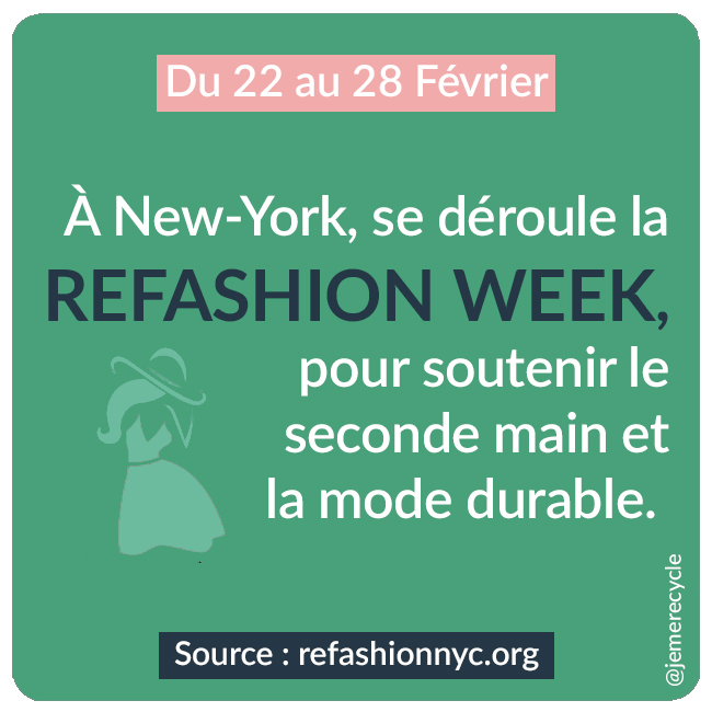 événements anti Fashion-Week - refashion week NYC