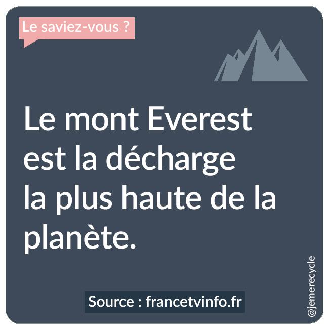 Des vacances à la montagne éco-responsables - Le mont Everest est la décharge la plus haute de la planète.