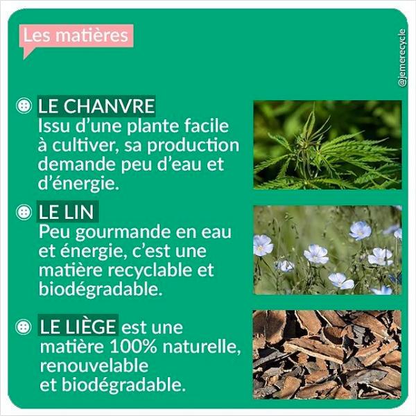 matières naturelles - le chanvre, le lin, le liège