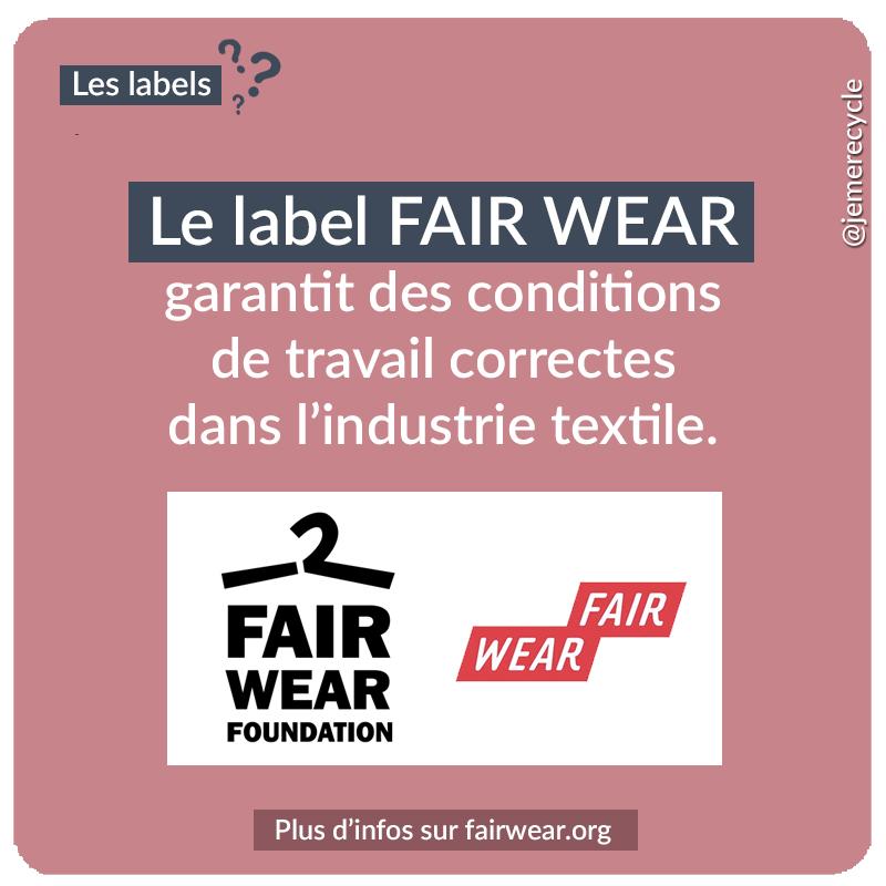 labels de mode éthique et écoresponsable - Fair Wear