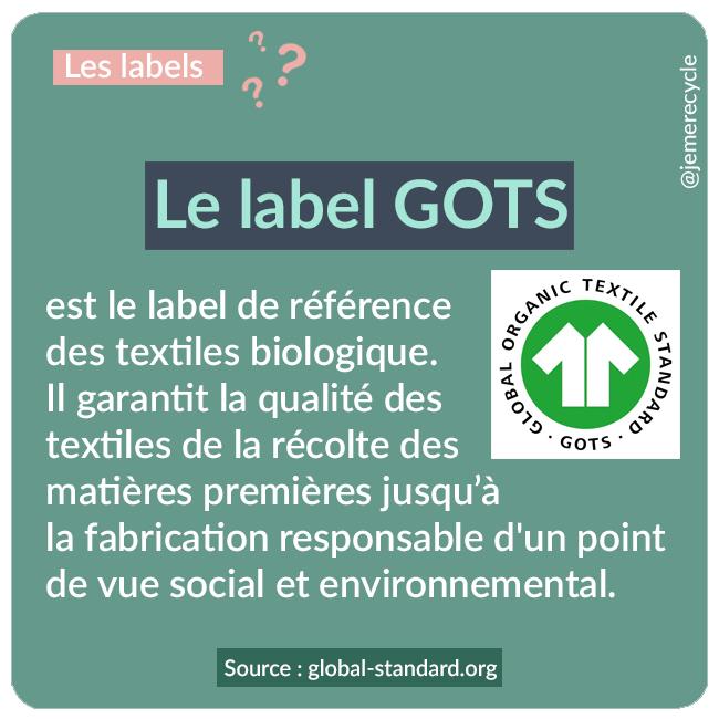 labels de mode éthique et écoresponsable - GOTS