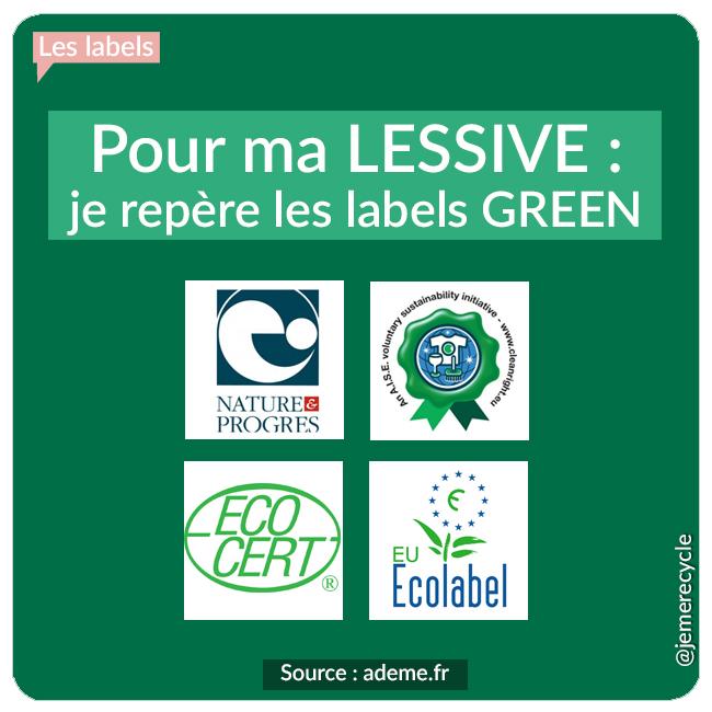 Les labels dédiés aux  lessives