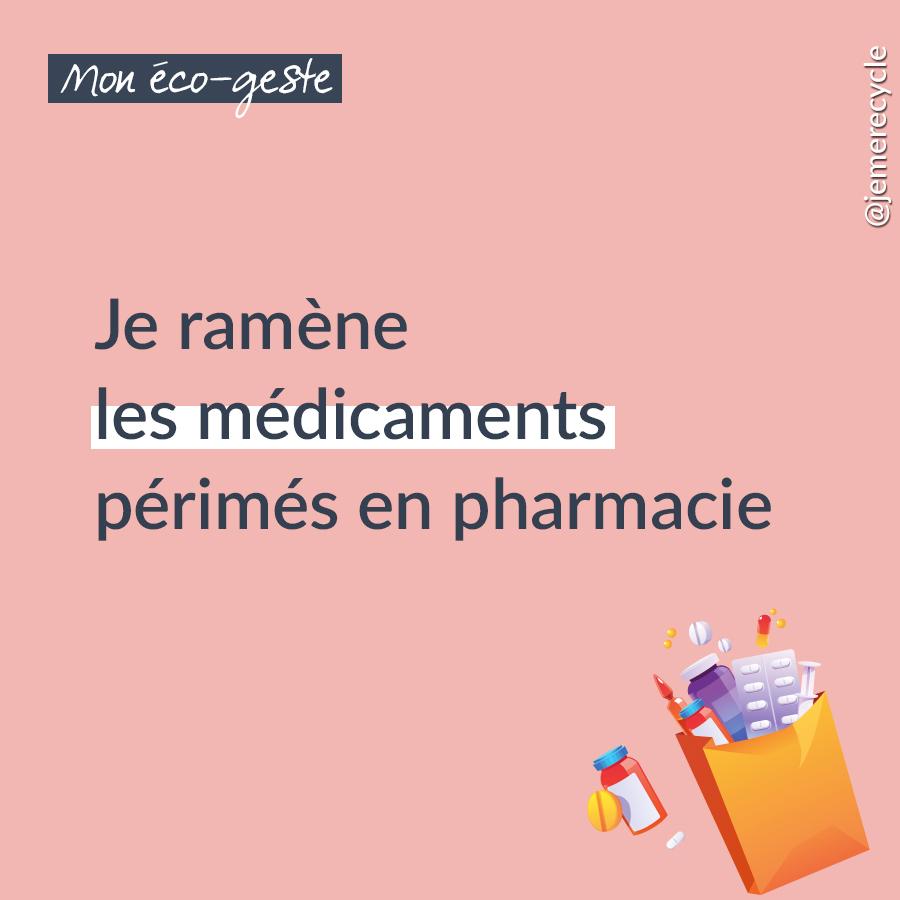 Je ramène les médicaments périmés et non utilisés en pharmacie