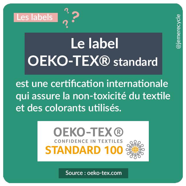 labels de mode éthique et écoresponsable - le label Oeko-Tex