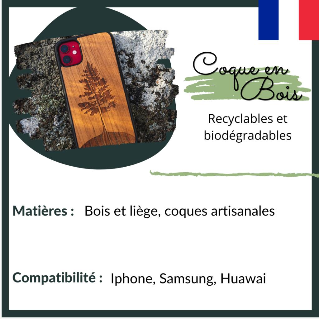 coque en bois - coques recyclables