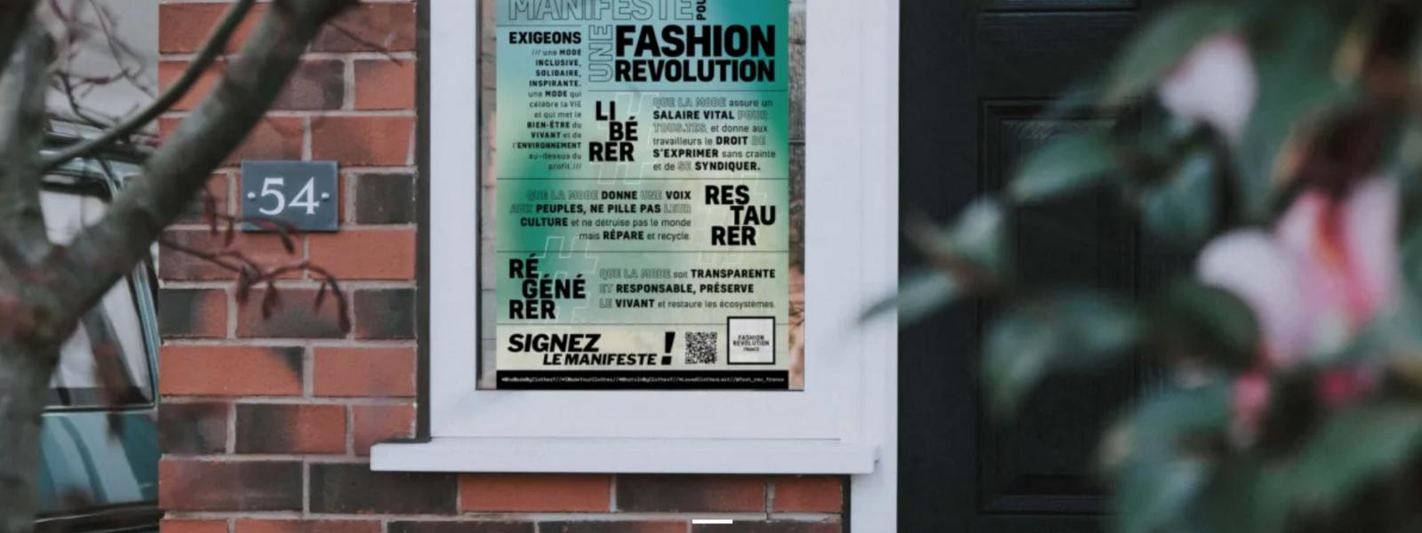 FASHION REVOLUTION : pour plus de transparence dans le secteur de la mode